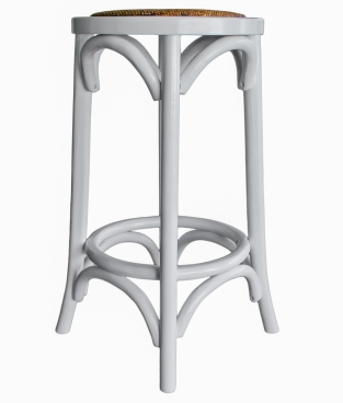 White Provincial Breakfast Stool