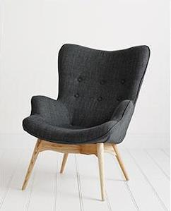 Our Charcoal Grant Featherston Contour Lounge Chair
